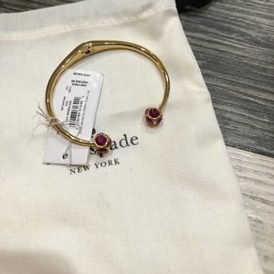 Kate Spade Lady Marmalade Open Cuff Pink Bracelet